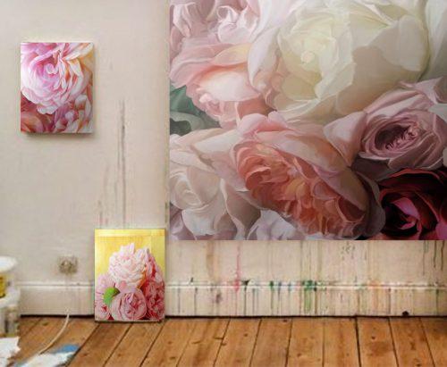 Rosenbilder in Öl, die Sprache der Rosen