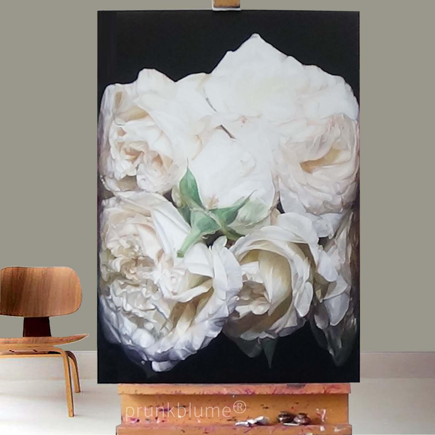 Rosenbilder in Öl, prunkblume- die Sprache der Rosen