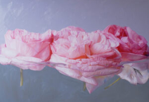 Rosen in Öl gemalt, Malerei, Rose, Bilder, Blumenstillleben auf Leinwand, Rosenbilder, Öl auf Leinwand Rosengemälde, Rosenporträts